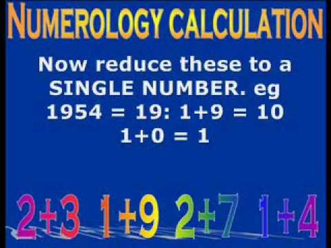 NUMEROLOGY CALCULATION - A step by step guide to calculating your - numerology chart template