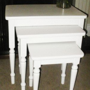 Hand Painted Nest Of Tables   Soft White   Craft Ideas   Pinterest   Nests,  Hand Painted And Tables