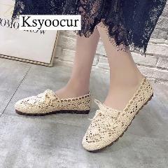 Brand Ksyoocur 2019 New Ladies Flat Shoes Casual Women Shoes Comfortable Round Toe Flat Shoes Spring Summer Women Shoes X01 2020 Bayan Ayakkabi Kadin Ayakkabilar