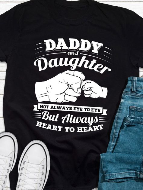 Bestdealfriday Daddy Daughter 9848850, Black-3XL