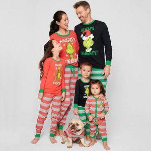 Long Sleeve Top and Pants Sleepwear for Pet Kids and Adults Family Matching Christmas Pajamas Set Baby