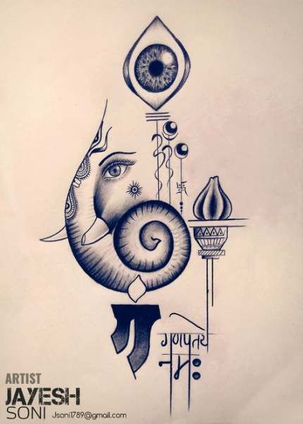 Eye Artwork Sketches Beautiful 37 New Ideas Lord Ganesha Paintings Ganesha Art Ganesha Painting