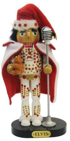 Kurt Adler 10  Elvis in White Suit Nutcracker