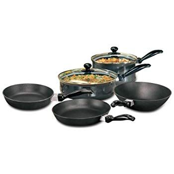 Buy Hawkins Futura Non Stick Cookware 7 Pieces Black Online At Low Prices In India Amazon In In 2020 Cookware Sets Pots And Pans Sets Cookware Set