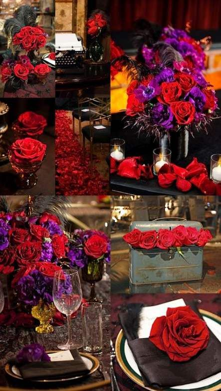 New Wedding Colors Red Purple Flower Ideas With Images Red