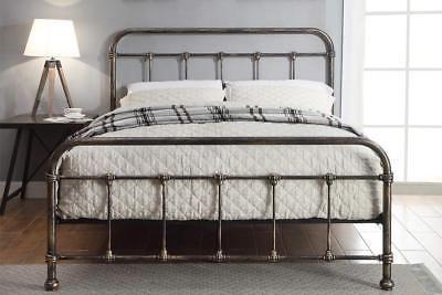 Details About Black Metal Bed Frame Bronze Finish Vintage Victorian Single Double King Sizes Metal Bed Frame Bed