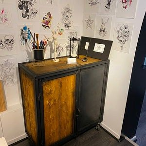 Industrial Furniture Type Steel And Wood Line In 2020 Liquor Cabinet Furniture Home Decor