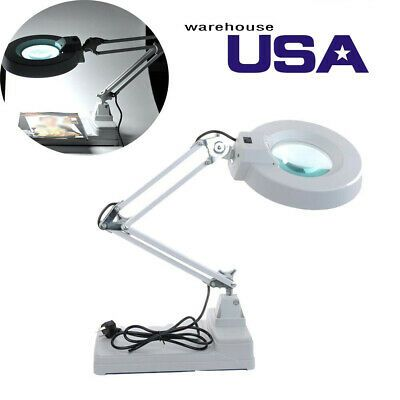 Ebay Advertisement Led Magnifying Glass Desk Lamp For Close Work 10x Lamp For Reading Crafts Usa In 2020 Glass Desk Lamps Magnifying Glass Magnifier Lamp
