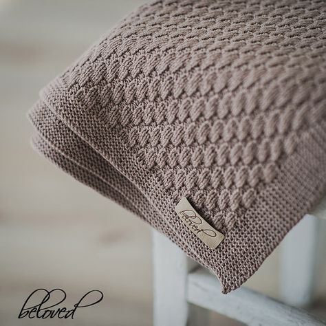 Hand Knitted Baby Blanket Merino Wool Knit Baby Blanket Knit