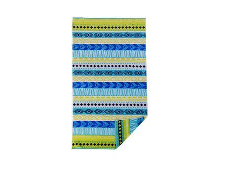 Mainstays Yarn Dyed Jacquard Beach Towel Blue Green Beach Towel