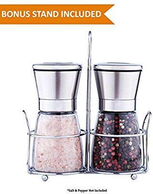 2 in 1 Premium Salt /& Pepper Grinder Shaker Adjustable Coarseness for Kitchen