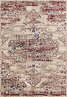 Amazon Com 8132 Distressed Cream Burgundy 8x10 Area Rug Carpet Large New Kitchen Dining Rugs On Carpet Persian Area Rugs Large Carpet