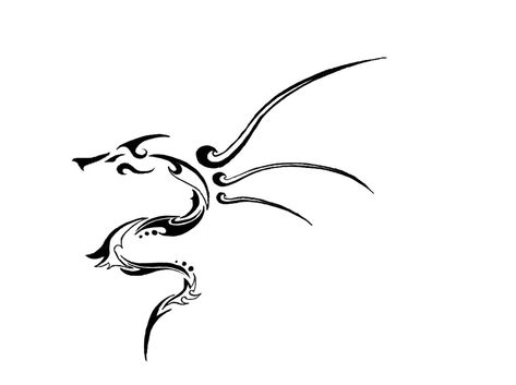 Tribal dragon tattoo stuff by Tonfish on deviantART  Really like this one