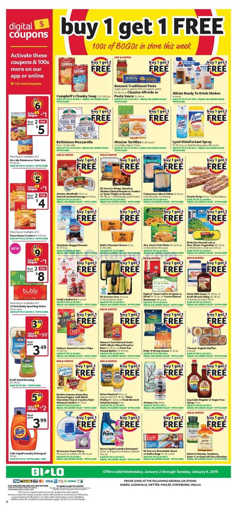 Browse Bi Lo Buy One Get Free 100s BOGOs In The Store This Week Digital Coupons Sales Ad Grocery Savings Weekly Ads Sale Prices