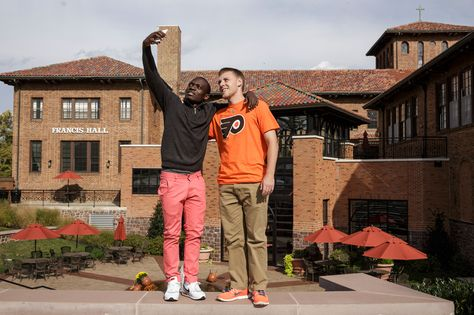 At #Alvernia, you'll make #friends for life! Taking #selfies is just part of the #college experience.