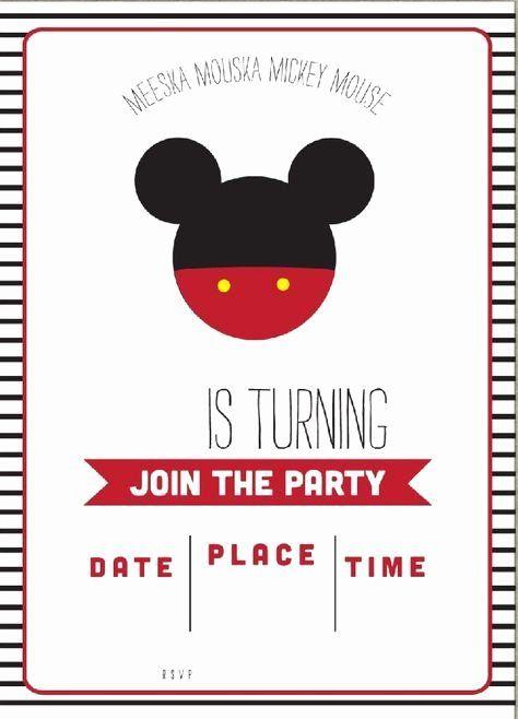 Mickey Mouse Invitations Online Elegant Get Free Template Free Simple Mickey Mouse Mickey Invitations Mickey Mouse Birthday Invitations Mickey Mouse Invitation