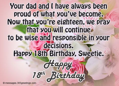18th Birthday Wishes Messages And Greetings Birthday Quotes For