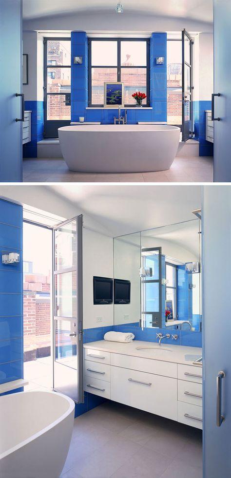 Bagno Blu E Bianco Dal Design Moderno Ecco 20 Idee Originali Bath