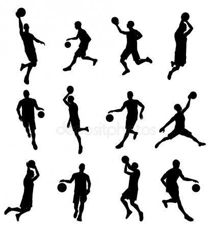 Siluetas De Jugador Basketballl Siluetas Imagenes De Baloncesto Baloncesto Dibujos