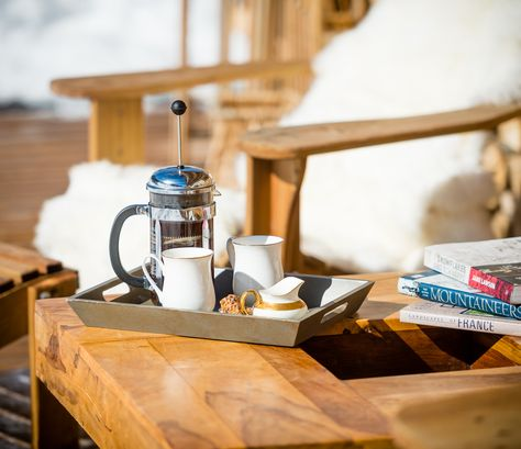 Coffee Time Luxury Ski Chalet Photography On Location In Morzine