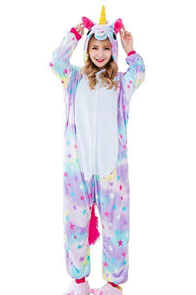 6d302d3c52 Aidonger Einhorn Kostüm Pyjama Jumpsuit Unisex Kinder Erwachsene  Cosplay(Sterne,L)- pyjama pyjamas frauen unterwäsche pyjamas womens  pyjamaparty ideas ...