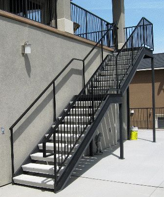 Lovely Metal Pan Stairs Staircase, Outdoor Wooden Handrails For Concrete Steps Uk