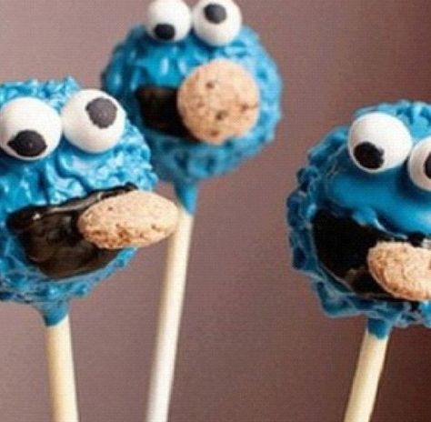 Cookie Monster cake pop