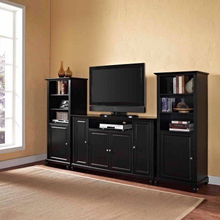 Crosley Furniture Cambridge TV Stand For TVs Up To 60 Inch And Two 60 Inch  Audio
