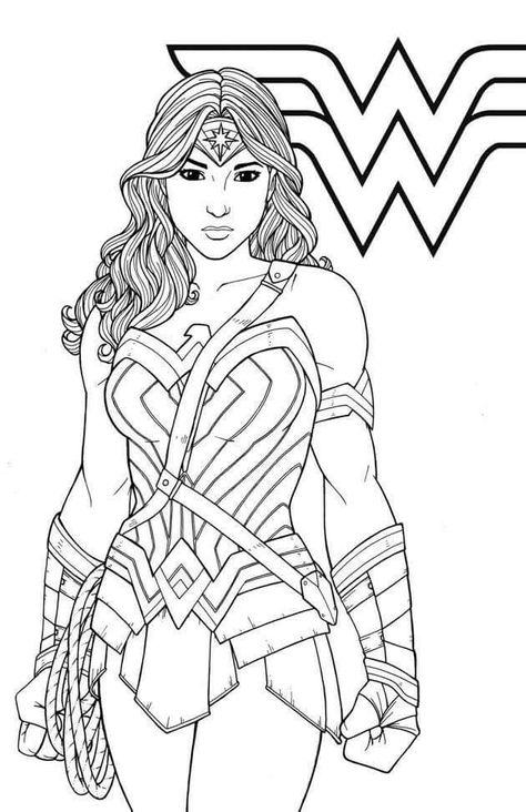 Wonder Woman Superhero Coloring Pages Coloring Books Coloring Pages For Girls