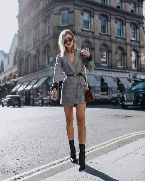 15 Check Blazers to Shop Now - - Check Plaid Blazer / Street style fashion / fashion week Source by