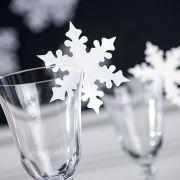 #noel Marque-places flocons pour verre (x10). Maplusbelledeco.com