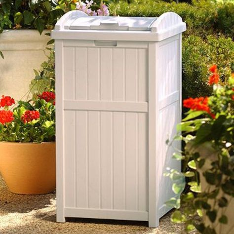 Outdoor Garbage Patio Resin Suncast Bin