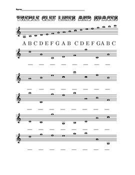 Eight Worksheets On Treble And Bass Clef Lines And Spaces Including Ledger Lines Clef Bass Worksheets