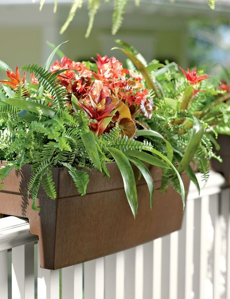 Deck Planter For 2x4 Or 2x6 Railings Gardener S Supply In 2020