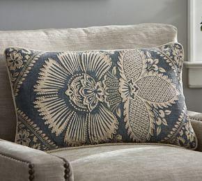 Kiva Floral Lumbar Cushion Cover   Pottery Barn AU