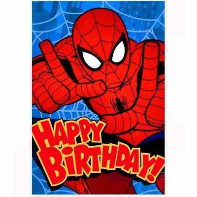 Hallmark Spiderman Happy Birthday Card With Envelope Marvel Spider Man Ebay Happy Birthday Spiderman Happy Birthday Cards Spiderman Birthday