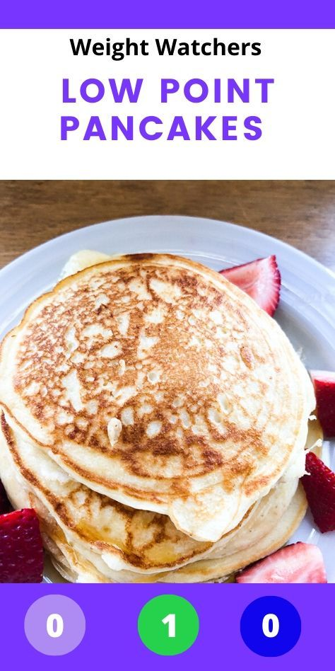 Skinny 1 Point WW pancakes with no bananas! Smart Points for each myWW plan included. Weight Watchers Pancakes, Weight Watchers Meal Plans, Weight Watchers Snacks, Weight Watchers Breakfast, Ww Recipes, Cooking Recipes, Free Recipes, Smart Points, Ww Points