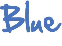 word blue