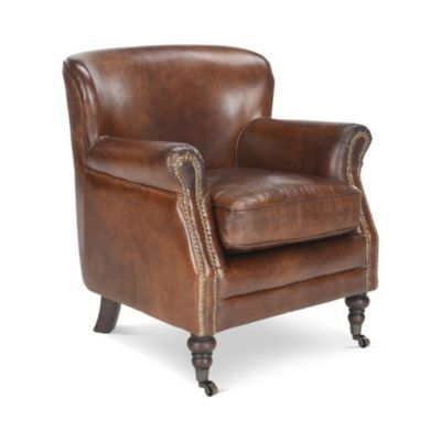 Beautiful Safavieh Couture Manchester Leather Arm Chair