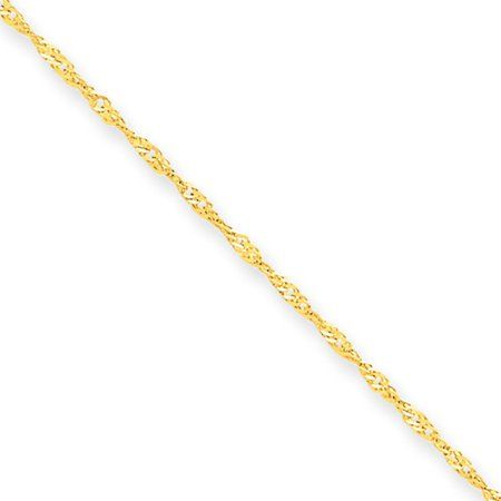Real 14Kt Yellow Gold 1.25mm Solid wheat Chain Necklace all lenghts real gold