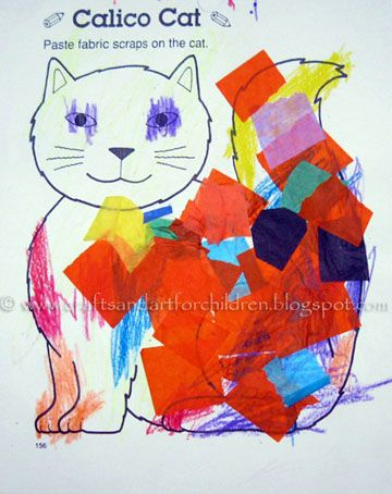 Letter C craft - Colorful Calico Cat
