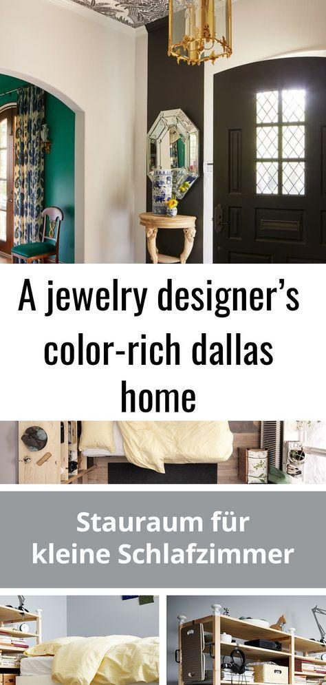 A jewelry designer's color-rich dallas home