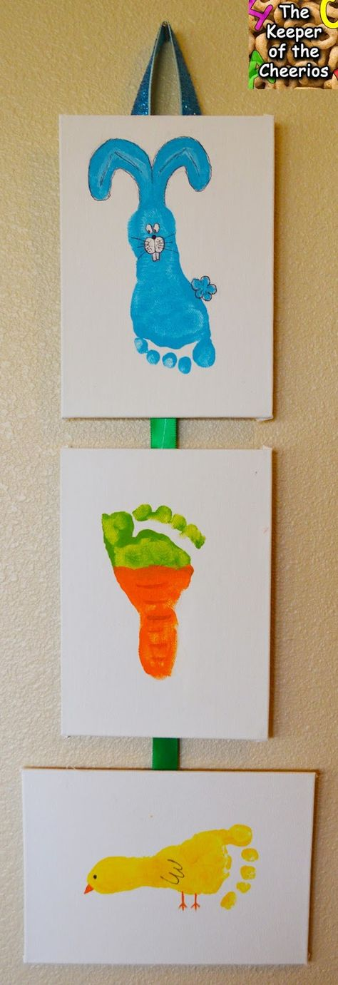 Easter Hand and Footprint Crafts.    -Repinned by Totetude.com