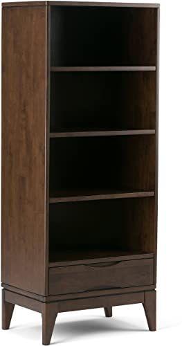 New Simpli Home Harper Solid Hardwood 60 Inch X 24 Inch Mid Century Modern Bookcase Storage Walnut Brown Online Shopping Alyssafavour In 2020 Mid Century Modern Bookcase Simpli Home Modern Bookcase