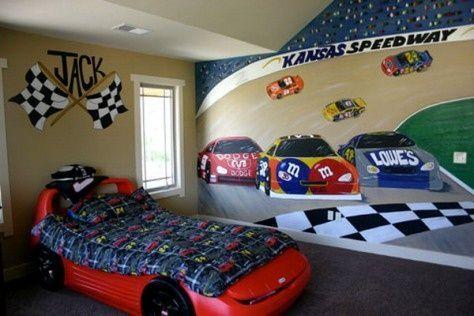 Fancy Kid S Room Decorating Ideas Cars Bedroom Decor Cars Room Race Car Bedroom
