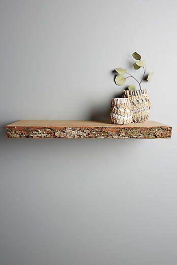 Live-Edge Wood Floating Shelf - Anthropologie