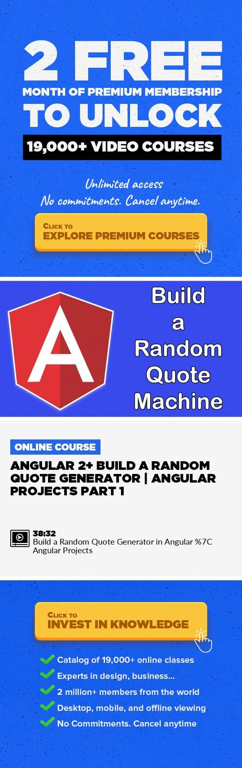 Angular 2+ Build a Random Quote Generator Angular Projects Part 1 - business quote generator
