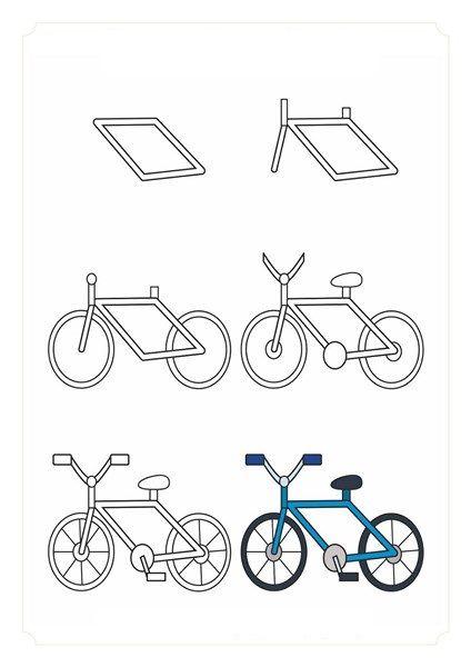 Kolay Tasit Cizimlerimiz Okul Oncesi Kolay Tasit Cizimleri Cizmeyi Ogrenmek Cizim Bisiklet Boyama