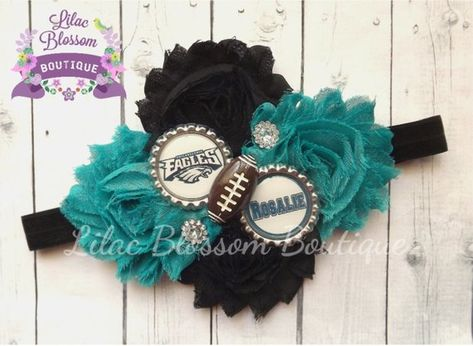 Philadelphia Eagles Personalized Girl Headband c892ca55d21
