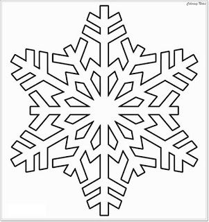 Winter Snowflake Coloring Pages For Printable Easy Winter